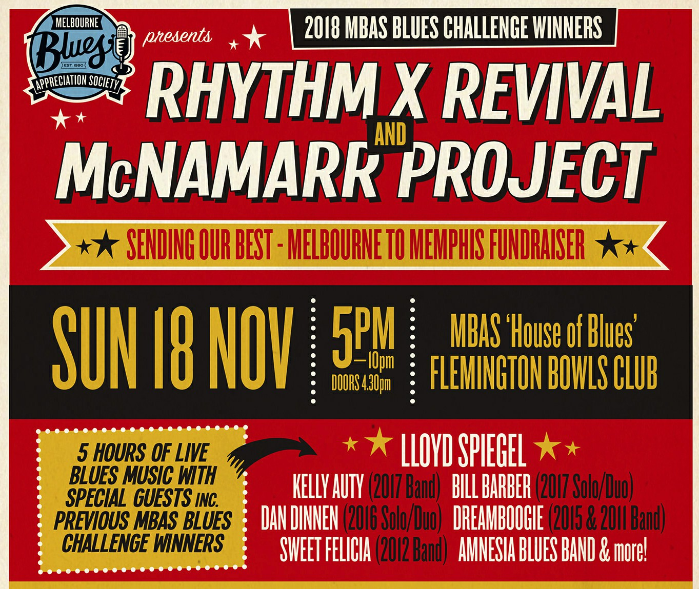 MBAS Melbourne To Memphis Fundraiser