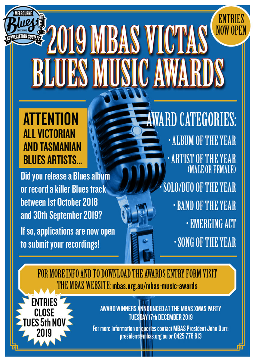 VicTas 2019 Blues Awards Night